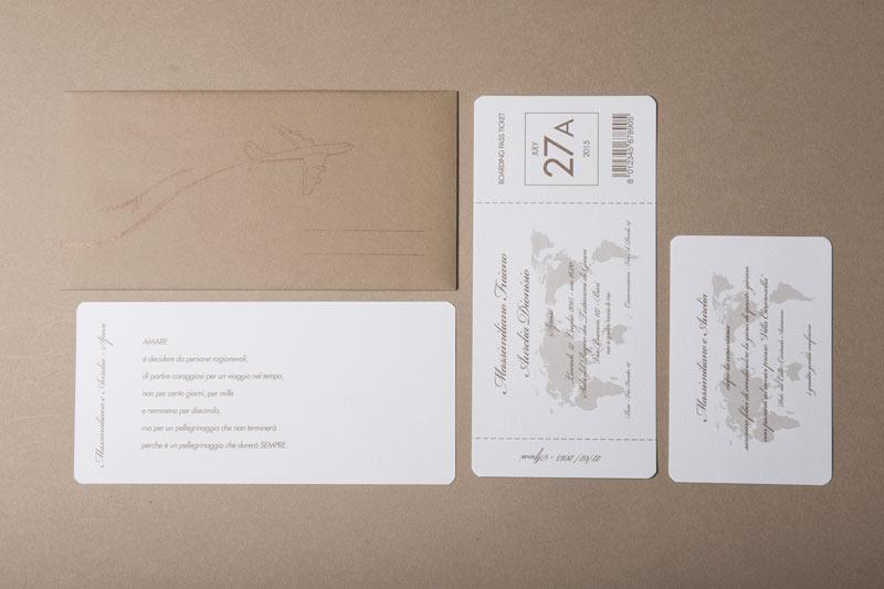 Partecipazioni Matrimonio Biglietto Aereo.Partecipazione A Forma Di Biglietto Aereo